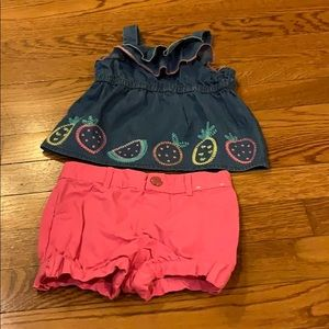 Ruffled fruit 2 piece set 18-24 months